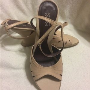 NWOT Nude Wedges by BCBG MAXARIA